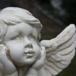 Guardian angel grave ornament
